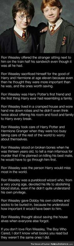 This hit me hard.  He truly does represent Hufflepuff.