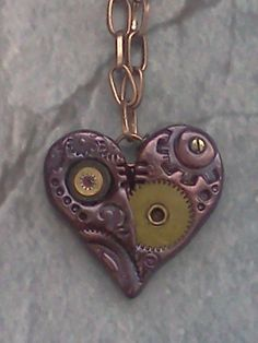 Polymer Clay Steampunk Heart