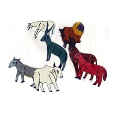 Mobile-iron-painted animals