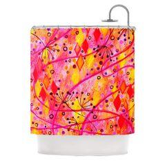 "Ebi Emporium ""Into the Fall"" Orange Pink Shower Curtain | KESS InHouse"