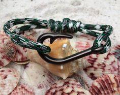 Gancho de los pescados de plata corazón por GONECOASTAL305 en Etsy