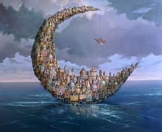 """Multidisciplinary artist Tomek Setowski has his own brand of surrealism known as """"magical realism."""" The Polish painter practices the traditional style of o"""