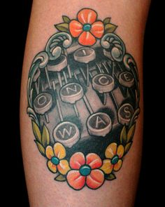 type writter tattoo