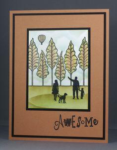 Look! Balloon! Claritystamp Wee Folk card.