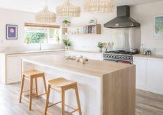 8 White Kitchen Design Ideas With Perfect Wood Furniture Furniture White kitchen design ideas are something that many people want to have in their homes. It is due to this reason that White Kitchen Design Ideas is sou. Swedish Kitchen, Small Cottage Kitchen, Small Space Kitchen, Scandinavian Kitchen, Open Concept Kitchen, Kitchen Units, Kitchen Cabinet Design, Modern Kitchen Design, Kitchen Interior