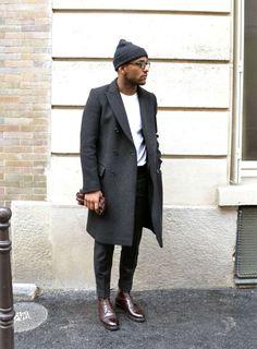 black beanie mens street style