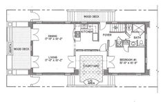 Courtyard plan by architect Bruce Tolar