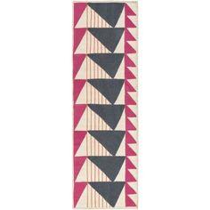 Renata Hand-Woven Pink/Gray Area Rug