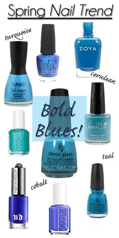 You can never have enough blue nail polish, right?