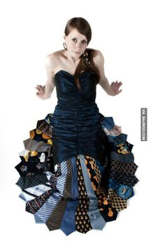 cool dress made of ties 23 Dress designs from old ties for women