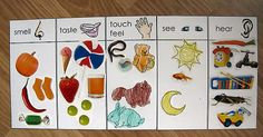 pinterest preschool crafts five senses | Joe created a 5 senses collage using pictures he colored and stickers ...