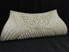 CRYSTAL EVENING PURSE HANDBAG CLUTCH HANDMADE