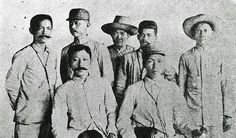 The Filipino negotiators, seated from left to right: Pedro Paterno and Emilio Aguinaldo with five companions. On December 14, 1897, the Pact of Biak-na-Bato was signed by General Emilio Aguinaldo and Spanish Governor-General Fernando Primo de Rivera to provisionally stop the armed conflict between the Filipinos and Spaniards. Don Pedro Alejandro Paterno was appointed by the Spanish Governor-General as sole mediator in the discussion of the terms of peace.