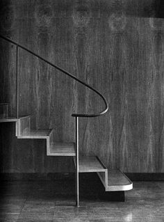 """""""Murano spent eleven years at Watanabe's office learning all aspects of design and working on many large projects. Staircase Handrail, Interior Staircase, Modern Staircase, Stair Railing, Staircases, Banisters, Balustrade Design, Railing Design, Staircase Design"""
