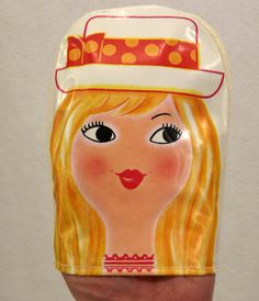 Vintage Powder Mitt, Avon, 1960's, Miss LollyPop