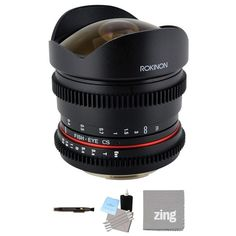 Rokinon 8mm T/3.8 Fisheye Cine Lens for Canon EF Bundle