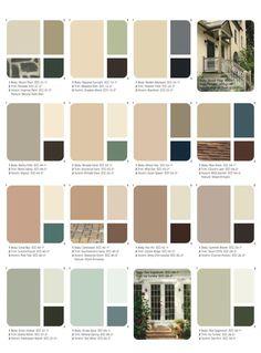 exterior house color schemes with red brick Outside House Paint Colors, Exterior Paint Colors For House, Paint Colors For Home, Exterior Paint Ideas, Outdoor House Colors, Outdoor Paint Colors, Vinyl Siding Colors, Stucco Colors, Paint Colours