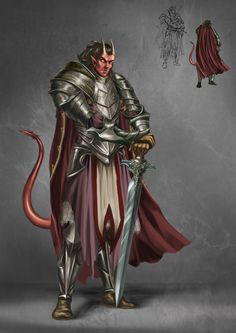 Fantasy Character Design, Character Concept, Character Inspiration, Character Art, Character Ideas, Tiefling Paladin, Dnd Paladin, Dungeons And Dragons Art, Dungeons And Dragons Characters