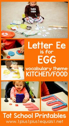 Tot School Printables Letter E is for Egg ~ a free program for toddlers from Letter E Activities, Vowel Activities, Preschool Letters, Learning Letters, Preschool Lessons, Preschool Activities, Toddler Learning, Early Learning, Tot School