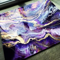 AMETHYST GALAXY cm One final layer has to be poured 💋 - groovy. Diy Resin Art, Epoxy Resin Art, Acrylic Resin, Resin Crafts, Acrylic Art, Pintura Glitter, Acrylic Pouring Art, Resin Artwork, Galaxy Painting