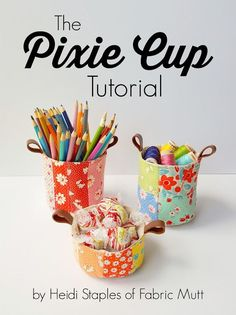 By popular request, I'm sharing the Pixie Cup Tutorial with you today! These are similar enough to my Pixie Basket tutorial that I thought they ought to share the name, but there are definitely differ