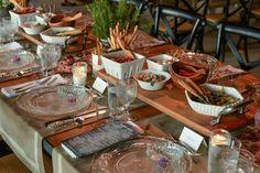 reception dinner - decoration detail - country chic - art de la table
