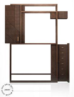 HAMPTON cabinet (oak and burnished metal) by Hangar Design Group for Rossato_BEST OF MILAN DESIGN WEEK 2015 | Yatzer