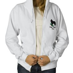 Holly Belgian Sheepdog Embroidered Hoodie from Zazzle.com