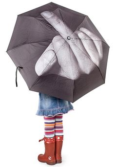 Middle finger umbrella. probably not a good idea for kids, but i could see many people in NYC having this as an umbrella!