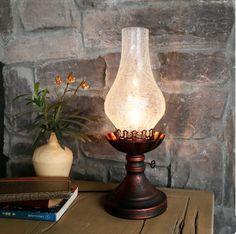 European vintage brown crackle glass Table Lamps Old-fashioned Kerosene lamp design iron lamp for bedside&foyer&table&bar LDK022 #Affiliate
