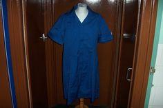 Alexandra  Blue Nurse Dress Overall Healthcare Uniform Workwear UK 26 / 28