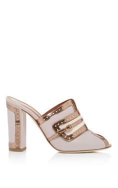 White and Gold Mule by Malone Souliers | Moda Operandi
