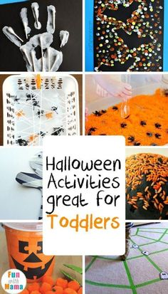 Super fun and easy activities to inspire toddlers to have an exciting Halloween! via halloween activities slime, halloween activities for preschoolers, halloween activities for graders Happy Halloween, Theme Halloween, Halloween Crafts For Kids, Holidays Halloween, Halloween Parties, Costume Halloween, Preschool Halloween Party, Halloween Recipe, Women Halloween