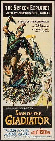 SIGN OF THE GLADIATOR - 1959 - Original 14x36 Insert movie poster - ANITA EKBERG