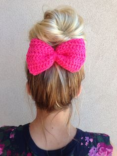 Large+crochet+bun+bow+clip+in+any+color++by+LittleBitWildCouture,+$5.00