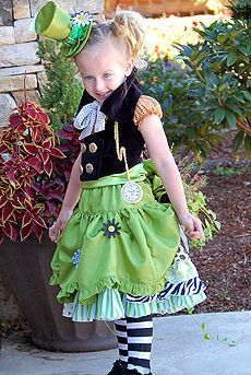 Mad Hatter Outfit...maybe in different  colors for baby girl's outfit?