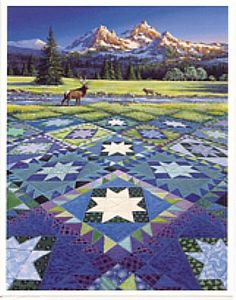 Delectable Mountains quilt pattern -- my favorite because it looks like Colorado!