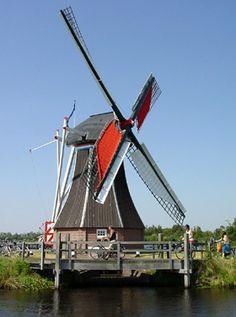 Polder mill De Helper, Haren-Hoornsedijk, the Netherlands