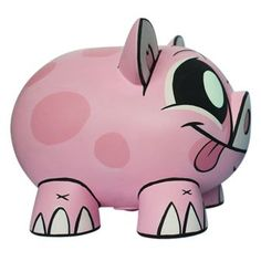 Joe Ledbetter Piggy Bank : Pink by Joe Ledbetter Money Bank, Money In The Bank, Pig Bank, Designer Toys, Ceramic Painting, Diy Projects To Try, Puppets, First Love, Christmas Crafts