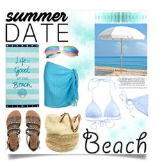 """Entry #1: Blue"" by mari-xxl ❤ liked on Polyvore featuring Billabong, Lexington, Frankford, Melissa Odabash, beach and summerdate"