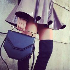 Street chic with M2Malletier handbag. #streetstyle #m2malletier
