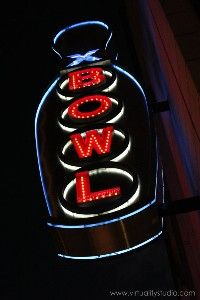 Bowling Alley Photograph - Print of Sign in Black Red and... review at ...