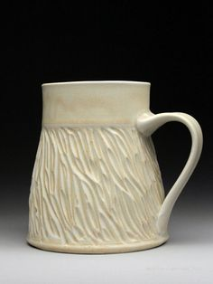Dyann Myers  Carved Porcelain Mug - one of my favorite potters and a nice nice person!