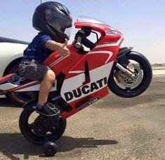 Little guy on a Ducati! Cool Baby, Motorcycle Baby, Honda, Kids Ride On, Mini Bike, Biker Girl, Biker Baby, Super Bikes, Street Bikes