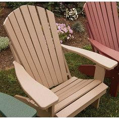 Recycled Plastic Fan Back Adirondack Chair