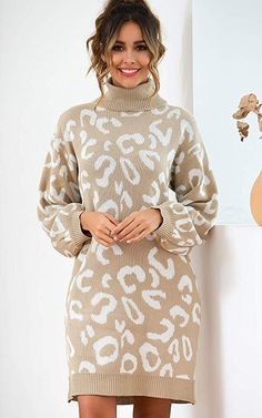 Woolen Clothes, Tunic Sweater, High Neck Dress, Turtle Neck, Street Style, Pullover, Women's Casual, Long Sleeve, Sweaters