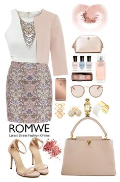 """Romwe 9"" by amra-f ❤ liked on Polyvore featuring Tom Binns, Hallhuber, WithChic, Louis Vuitton, Monsoon, Loushelou, Tory Burch, Kate Spade, Mura and Ray-Ban"