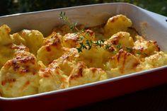 Sajtos-tejfölös karfiol - Keva Blog Vegetable Recipes, Mozzarella, Cauliflower, Macaroni And Cheese, Diet Recipes, Side Dishes, Food And Drink, Vegetables, Healthy