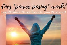 Does Power Posing work? My thoughts... (w/ videos!) What is power posing? Does it give you power? Try it out here, with a feel-good fitness flow routine that utilizes power pose! | FemFusion Fitness