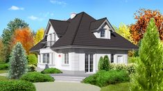 Wizualizacja Dom przy Sielskiej 3 CE Best House Plans, Good House, Home Design Plans, Home Fashion, Teak, Diy Home Decor, House Design, Mansions, House Styles